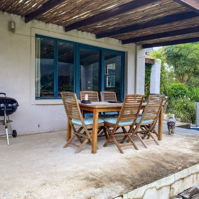 Weber and outdoor dining table