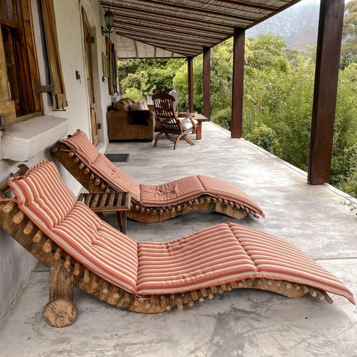 Lounge chairs on patio