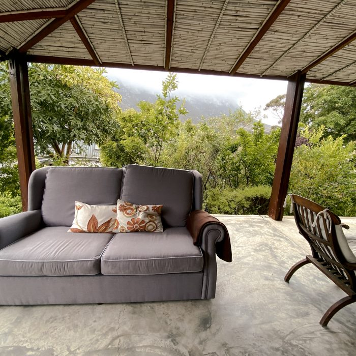 Extra couch on patio